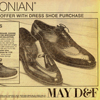 May D&F Newspaper Ad for Men\'s Dress Shoes