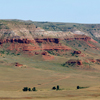 Limestone Cliffs of a Butte Near the Bighorn Canyon:  53_3Pan