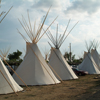 Row of Tipis Along One of the Streets At Crow Fair 2006: 1_072
