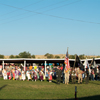 Color Guard Leads Grand Entry into a 2006 Crow Fair Pow Wow: 1_200