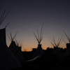 Tipi Poles & Smoke Flaps Silhouetted, Early Dawn Sky: 02_160