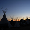 Tipi Poles & Smoke Flaps Silhouetted, Early Dawn Sky: 02_185