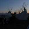 2 Horses, Trailer, Tipi Poles & Smoke Flaps, Early Dawn Sky: 02_197